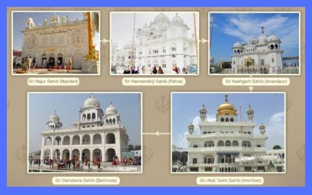panj-takhts-of-sikhism