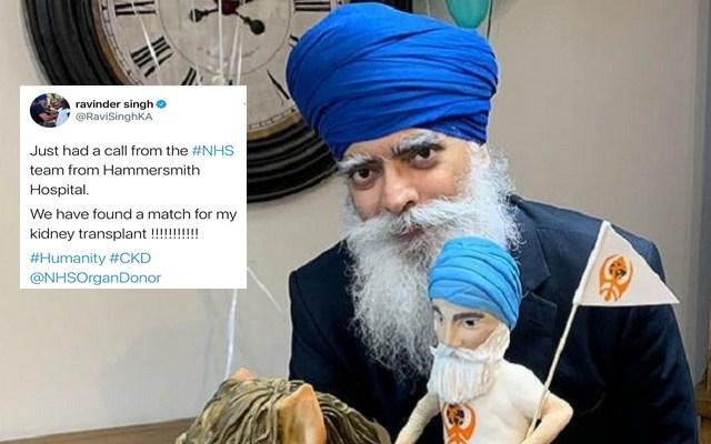 Khalsa Aid Founder, Ravi Khalsa Finally Finds A Kidney Donor!